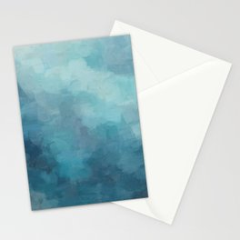 Mint, Aqua, Turquoise, Navy, Blue, Nautical Wall Art, Abstract Art Prints, Wall Decor, Abstract Painting, Modern Minimal Art Stationery Cards