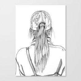 Ponytail Girl Canvas Print