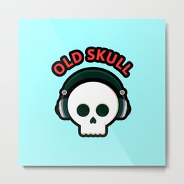 Old Skull Metal Print