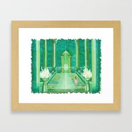 The Emerald Library  Framed Art Print