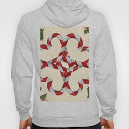 CREAMY YELLOW  RED-WHITE PINK  CHRISTMAS CANDY CANES Hoody