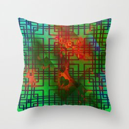 Shambala Matrix by Kenny Rego Throw Pillow