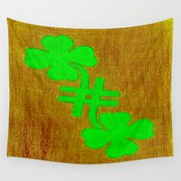 number Wall Tapestries featuring 'Lucky Number' by Peter Myles - Abstract Designz