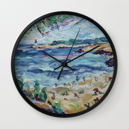 Beach & Lighthouse @ St Croix Wall Clock
