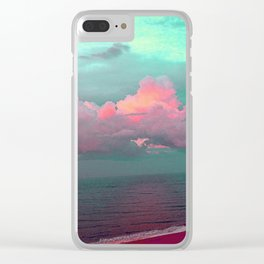 Green sky in the morning, everything is fine Clear iPhone Case