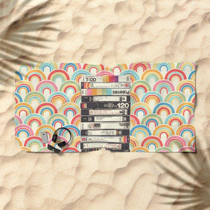 VHS & Rainbows Beach Towel