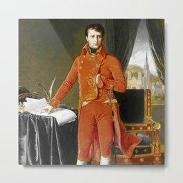 "Jean-Auguste-Dominique Ingres ""Napoleon Bonaparte in the Uniform of the First Consul"" Metal Print"