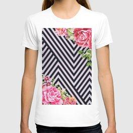 flowers geometric T-shirt