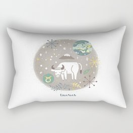 Taurus Earth Rectangular Pillow