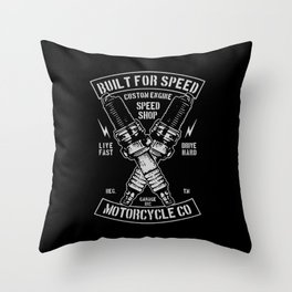 build for speed Throw Pillow