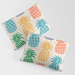 Retro Mid Century Modern Pineapple Pattern in Multi Colors Pillow Sham
