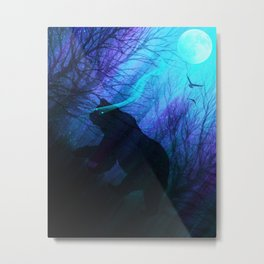Midnight Grizzly Metal Print