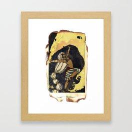 moon tarot Framed Art Print
