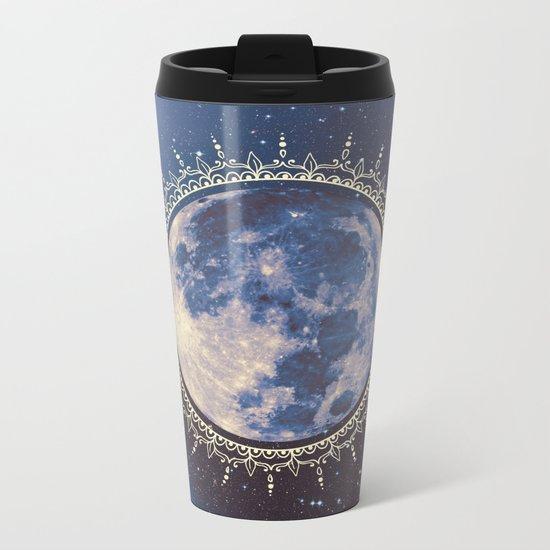 moon #2 Metal Travel Mug