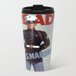 Ready -- Join U.S. Marines Metal Travel Mug