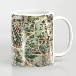 Vintage Pictorial Map of Central Park NYC (1860) Coffee Mug