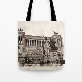 Altar of the Fatherland, Rome Tote Bag