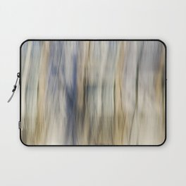 Soft Blue and Gold Abstract Laptop Sleeve