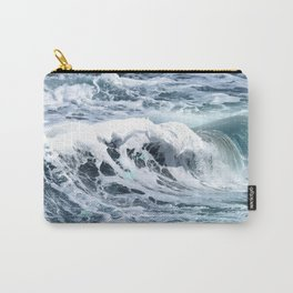 Blue Sea Ocean Waves Carry-All Pouch