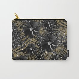 Tropical Diamond Flowers #2 #shiny #chic #floral #palms #decor #art #society6 Carry-All Pouch