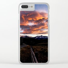 Sunset Over Telluride Clear iPhone Case