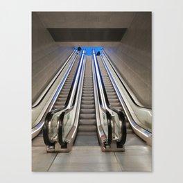 Subway escalators Canvas Print