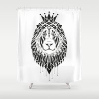 leo Shower Curtains featuring leo by LydiaSchüttengruber