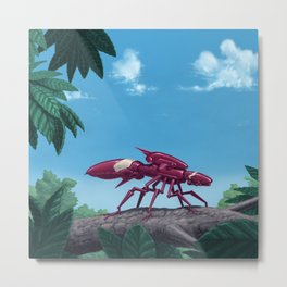 Aggressor Insectron Metal Print