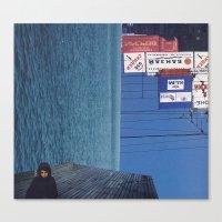 submarine Canvas Prints featuring submarine by Mirawek Wolff