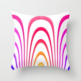Cheerful lines Throw Pillow