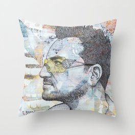 Bono - I Still Haven't Found What I'm Looking For Throw Pillow