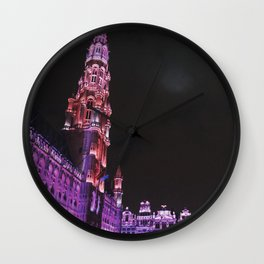 Christmas in Brussels Wall Clock