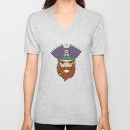 Pipe Smoking T-Shirt For Pipe Smoker Captain Pipe Unisex V-Neck