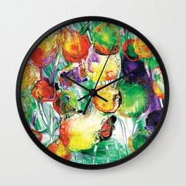 Dahlia Flowers Love the Sun 2 Wall Clock