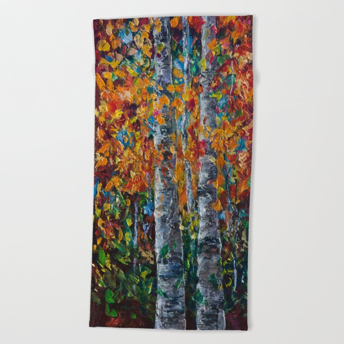 Aspen Trees - 1 Beach Towel