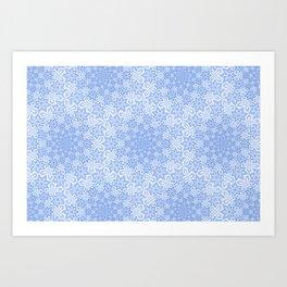 Star Vortex - Color: Cerulean Sky Art Print