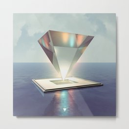 GLASS PYRAMID - ∀ Metal Print