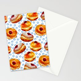 My Bubbie's Hanukkah Jelly Donuts (Hanukkah Sufganiyot) Stationery Cards