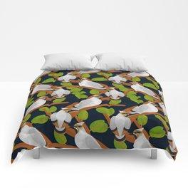 Bohemian waxwing pattern Comforters