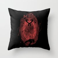 thundercats Throw Pillows featuring Evil Shrouds Us by Vitalitee