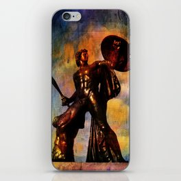 Statue of Achilles in London Hyde Park. iPhone Skin