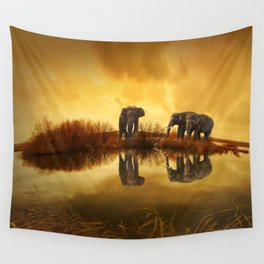 Elephant 3 Wall Tapestry