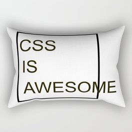 CSS Is Awesome Rectangular Pillow