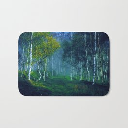 White Birch Forest, New England Landscape Bath Mat