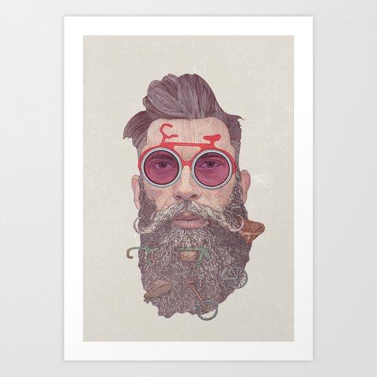 Hipster Dude Art Print