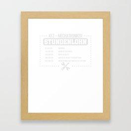Car Mechanic Hourly Rate T-Shirt Cool Mechanic Tee Framed Art Print