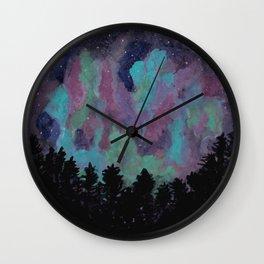 Aurora Forest Wall Clock