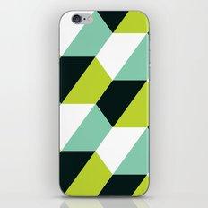 Lime green & turquoise hexagon pattern iPhone & iPod Skin