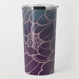 mystic dark peony flower Travel Mug