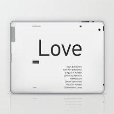 Valentine's gift. Love Laptop & iPad Skin